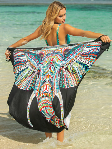 Animal Print Multi-maneiras vestindo Cover Ups