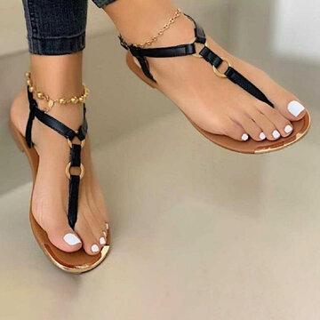 Lightweight Clip Toe Non Slip Flat Sandals