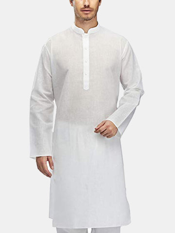Mens Ethnic Dress Tunic Kurta Pajama T-shirt Tops