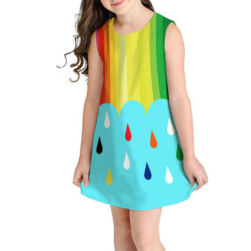 Fruit Print Woven Dresses For 10-15Y