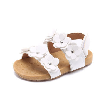 Girls Lovely Flowers Sweet Beach Sandals