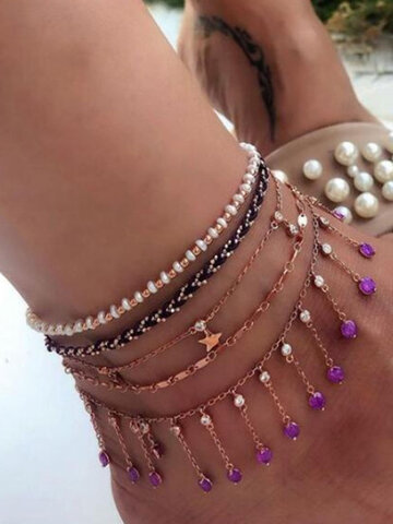 Five-pointed Star Multi-layer Anklet