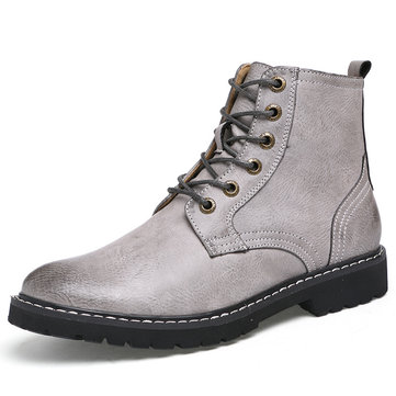 Men's Vintage Classic Metal Eyelets Lace Up Work Boots
