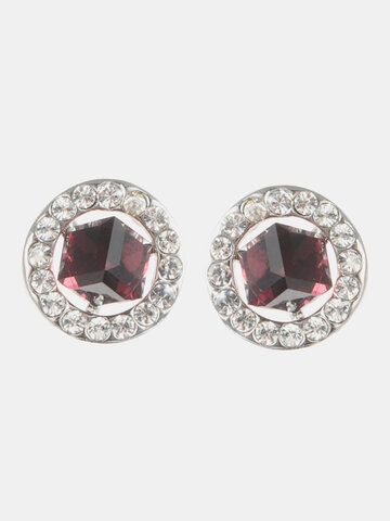 Classic Cubic Crystal Earrings