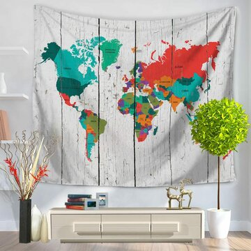 8 Styles World Map Wall Hanging Tapestry