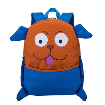 Kids Cute Animal Rubber Backpack Cartoon Schoolbag Retro Shoulder Bag