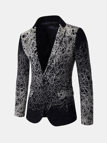 Mens Casual Long Sleeve Design Slim Blazer
