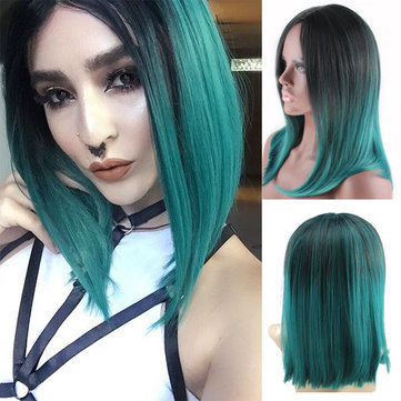 Gradient Medium Length Straight Hair, Picture color delivery network
