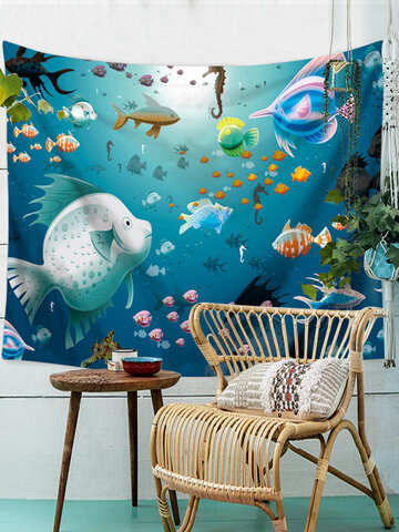 Ocean Animals Series Wall Hanging Tapestry