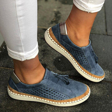 Casual Breathable Tassel Flat Loafers