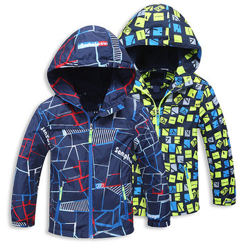 Thick Winter Printed Boys Jacket