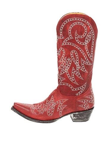 Bottes de cowboy à motif rivet de grande taille