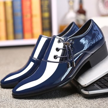 Men Stylish Pure Color Comfy Dress Shoes