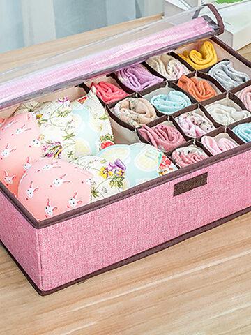 6 Colors Large Capacity Linen Storage Box
