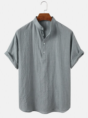 Cotton Breathable Henley Shirts