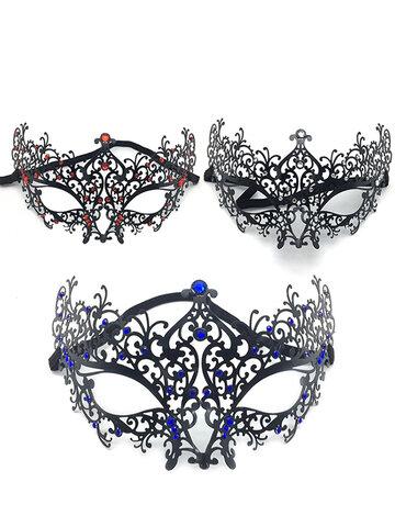Halloween Metal Diamond Ball Mask
