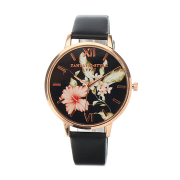 Retro Leaves Flower Elegant Watch