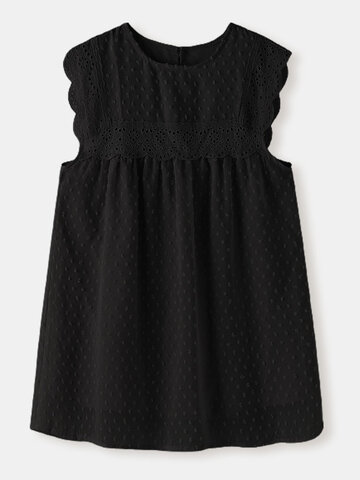 Jacquard Solid Lace Tank Top