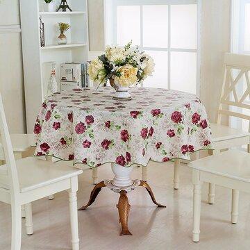 Runder Haushalt Picknick wasserdichtes ölbeständiges Tischtuch PEVA Cover Home Decor