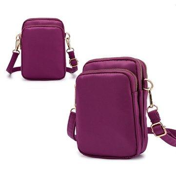 Женщины нейлон водонепроницаемый солидный сумка сумка сумка сумка