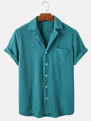 Corduroy Plaid Breathable Shirts