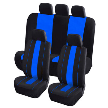 8Pcs Polyester Fabric Car Front and Back Seat Cover