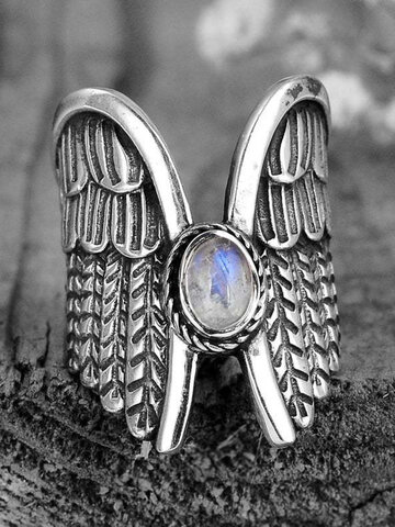 Alloy Feather Ring
