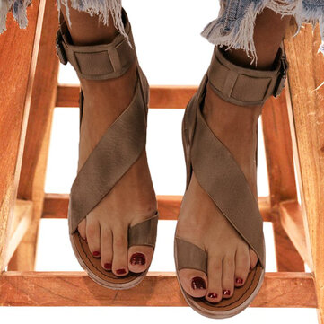 Retro Non Slip Back Zipper Sandals