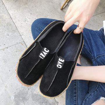 LOSTISY Stitching Flat Soft Shoes
