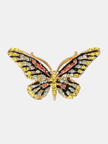 Luxury 18K Gold Butterfly Pendant Brooch