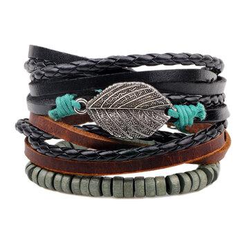 Bracelete de couro em calças de couro para homens