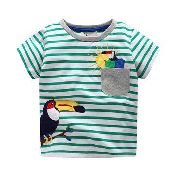 Camiseta a rayas Animal Boys para 1Y-9Y