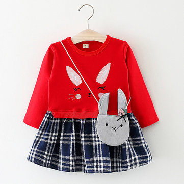 Cute Rabbit Girls Dress For 6M-36M