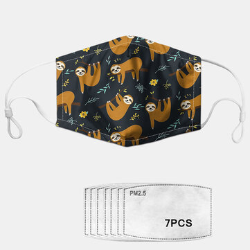 PM2.5 Masque de modèle de dessin animé lavable anti-buée à joint