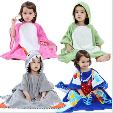 Cartoon Animal Pattern Kids Bath Robe