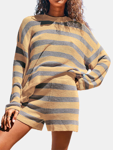 Striped Long Sleeve Suit