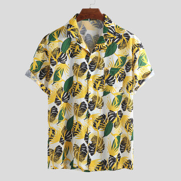 Mens Hawaiian Floral Printed Cotton Shirts