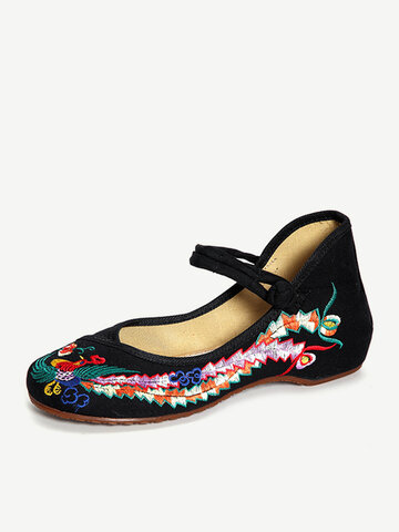 Phoenix Embrodedy Slip On Flate Shoes