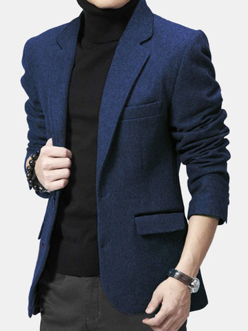 Casual Slim Fit Woolen Suit Coat