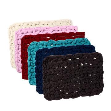 Soft Warm Hand Chunky Knit Blanket
