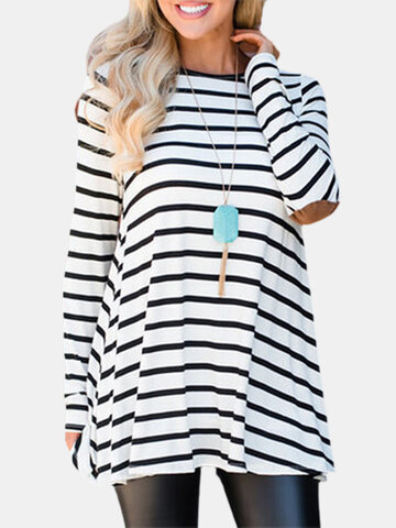 Black White Striped T-shirt