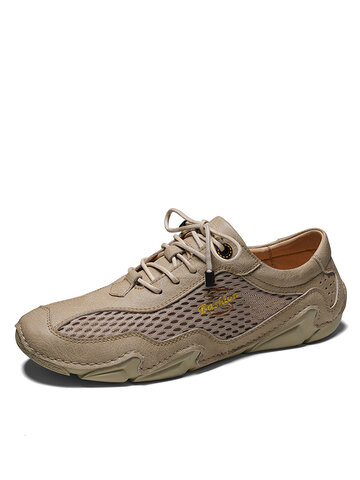 Men Breathable Lace-up Casual Driving Shoes