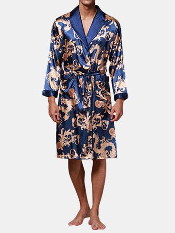 Phoenix Printing Pijamas de seda