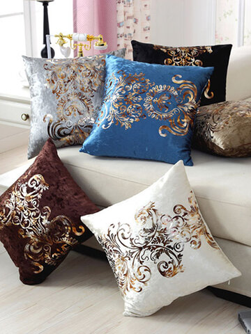 Luxurious Velour Pillow Cover Bronzing Cushion Cover