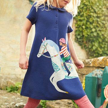 Cavallo Modello Le ragazze si vestono per 1-9 anni
