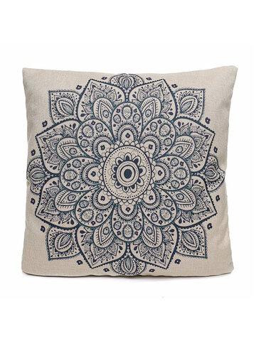 44x44cm Euro Style Flower Printing Cotton Linen Pillow Case Cushion Cover Sofa Car Home Decor