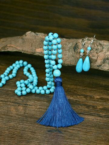2 Pcs Tassel Jewelry Set
