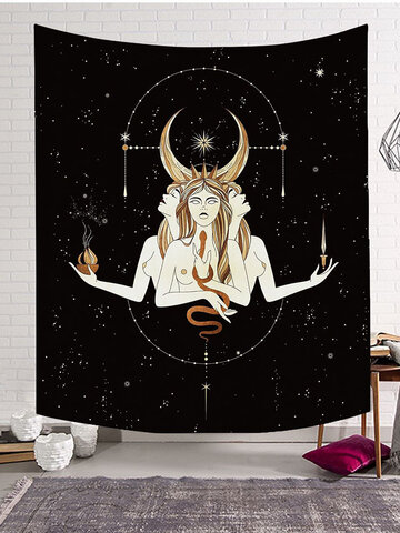 1 PC Dacron Character Design Wall Hanging Living Room Bedroom Decoration Wall Art Tapestries
