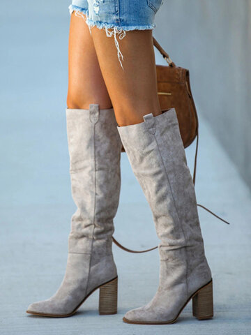 Plus Size Women Knee Boots