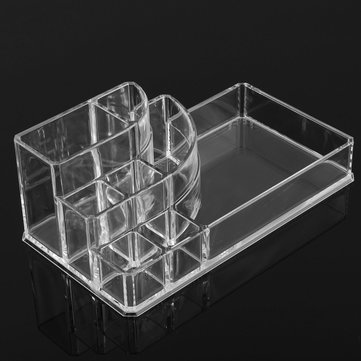Transparent Cosmetic Organizer Lipstick Face Cream Brush Storage Case Acrylic Stand
